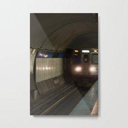 Chicago L Subway Blue line Clark Lake Metal Print