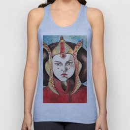 Queen Amidala Watercolor Unisex Tank Top