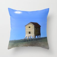 House Roots Throw Pillow
