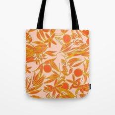 Orange Blossoms on Peach Tote Bag