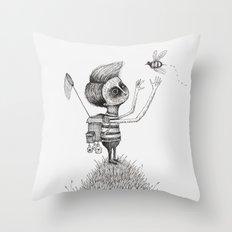'The Bug Collector' Throw Pillow