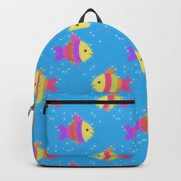 Swimming Fish Cartoon Pattern Backpack