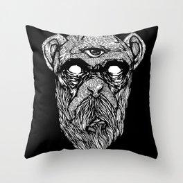 Bearded Ape r2 Throw Pillow