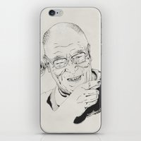 lama iPhone & iPod Skins featuring Dalai Lama by RiversAreDeep