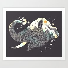 The Grey Gust and the Savage Sea Art Print
