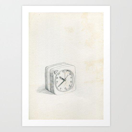 Little clock Art Print