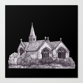 All Saints Parish Church (on black( Canvas Print