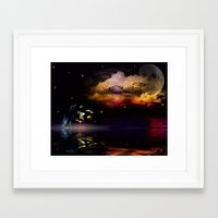 pirate ship Framed Art Prints featuring Pirate Ship by Moon Willow