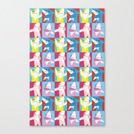 Left Shark Pop Art Canvas Print