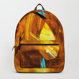 Golden Swirl Abstracts Backpack