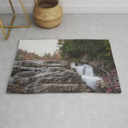 Rocky Gorge Waterfall in Autumn Rug