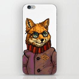 Fox in coats iPhone Skin