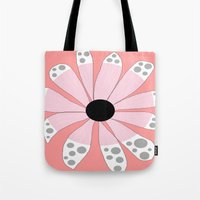 beth hoeckel Tote Bags featuring FLOWERY  BETH / ORIGINAL DANISH DESIGN bykazandholly by by Kaz & Holly