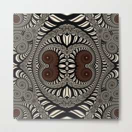 Earthtone spirals Metal Print