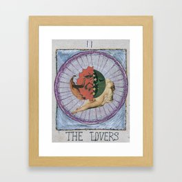 TAROT CARDS. THE LOVERS Framed Art Print