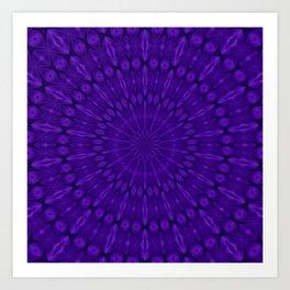 Blue Purple UltraViolet Solar Spirit Art Print