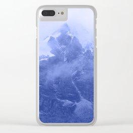 Rocky Mountain Fog Blue Clear iPhone Case