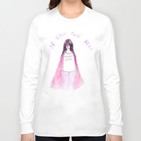 feminist Long Sleeve T-shirts featuring Feminist Hero by Ambivalently Yours