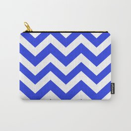 Palatinate blue - blue color - Zigzag Chevron Pattern Carry-All Pouch