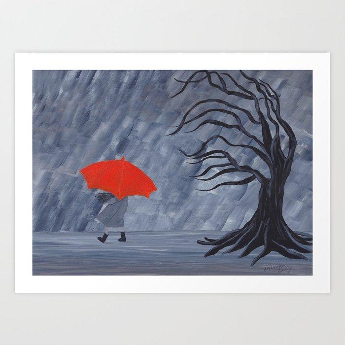 Orange Umbrella Kunstdrucke