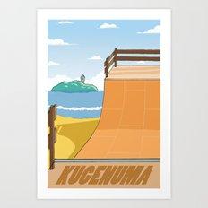 Kugenuma Skatepark Art Print