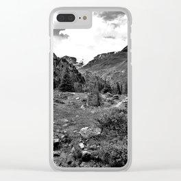garden further alps kaunertal glacier tyrol austria europe black white Clear iPhone Case