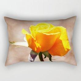 Yellow Hybrid Tea Rose Rectangular Pillow
