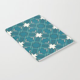 Ethnic pattern in blue Notebook