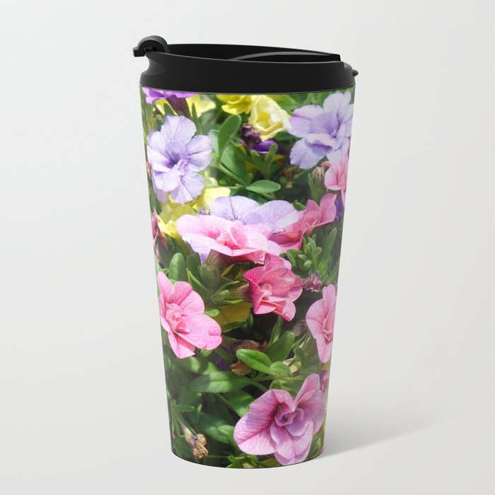 Lovely Flowers 17 Metal Travel Mug