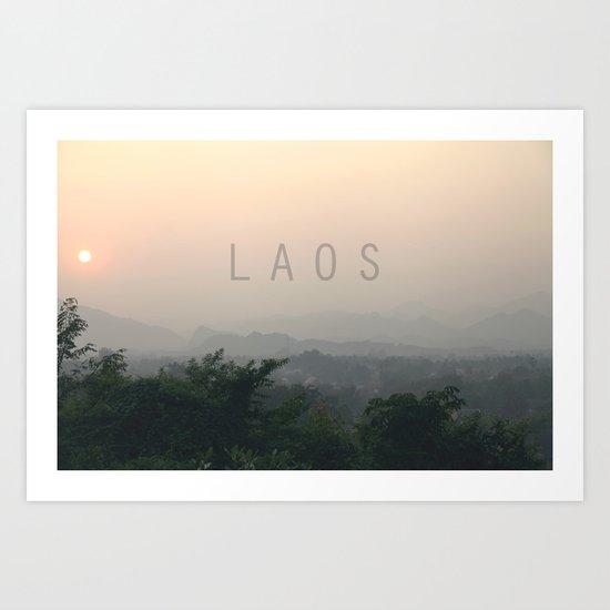 COUNTRY SERIES - LAOS Art Print