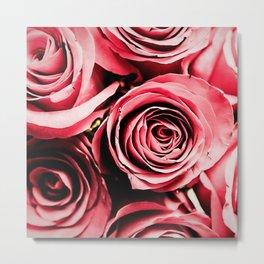 Moonlight & Roses Metal Print
