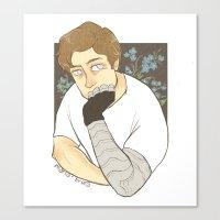 bucky barnes Canvas Prints featuring Bucky Barnes by maria euphemia
