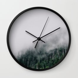 Misty Great Smoky National Park  Wall Clock