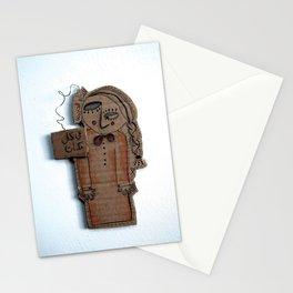 the sad cardboard girl Stationery Cards
