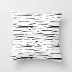 Birch Black and White Throw Pillow