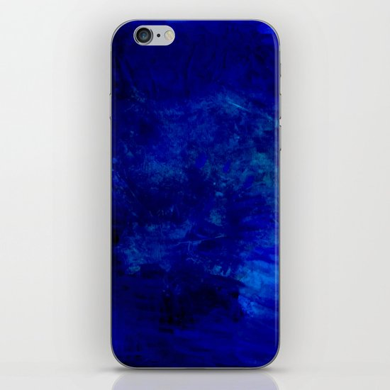 Blue Night- Abstract digital Art iPhone & iPod Skin