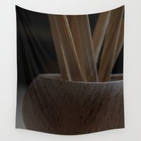 wooden Wall Tapestries featuring Wooden Contrast by writingoverashes