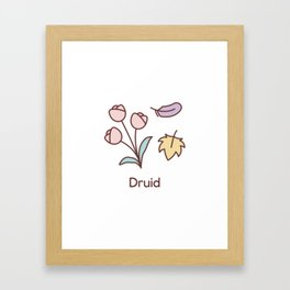 Cute Dungeons and Dragons Druid class Framed Art Print