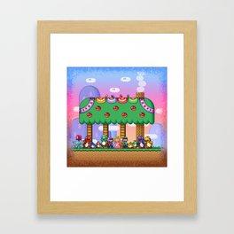 Super Mario World Happy Ending Framed Art Print