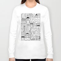 cityscape Long Sleeve T-shirts featuring cityscape by Anna Grunduls