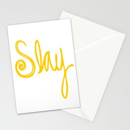 to Slay - Yellow Stationery Cards
