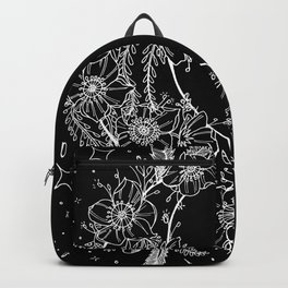 The Flower Moon; Crescent Moon; Feathers; Dream Catcher; Chalk Art Backpack