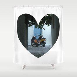 Mykonos Romance Shower Curtain