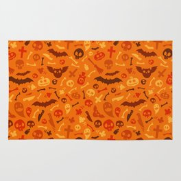 Halloween Orange Pattern Rug
