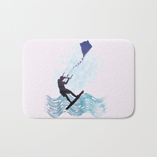 [mis]interpreting kiteboarding Bath Mat