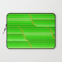 Geo Stripes - Green Laptop Sleeve
