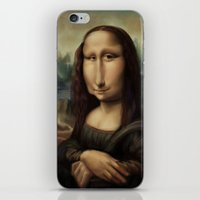 mona lisa iPhone & iPod Skins featuring Mona Lisa by Alexander Novoseltsev