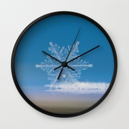 Snowflake photo - Cloud number nine Wall Clock