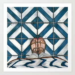 Art Beneath Our Feet - Cabarita Beach, Australia Art Print