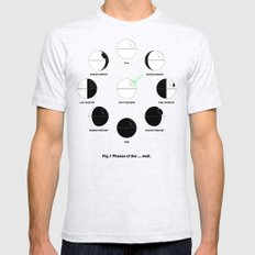 That's No Moon Phases Mens Fitted Tee Ash Grey SMALL